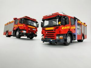 【Father and son : P310, P320 pump truck】